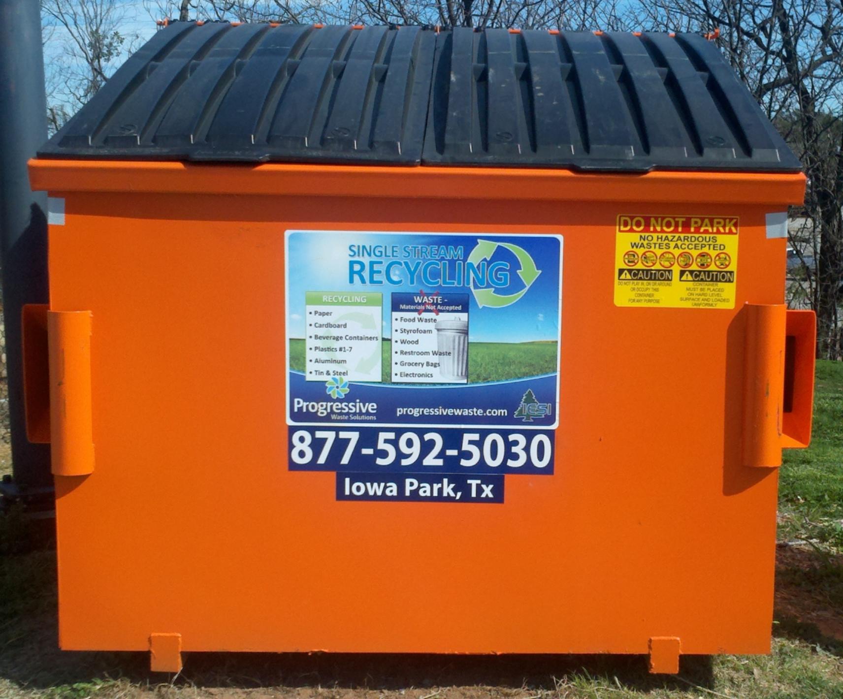 orange bin